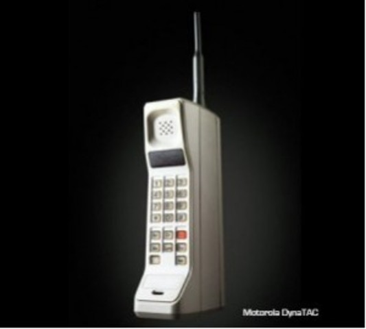 First cell phone was invented.