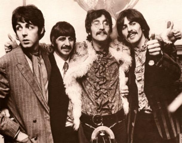 The Beatles began their worldwide fandom