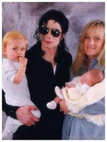 Michael Jackson's first 2 children.