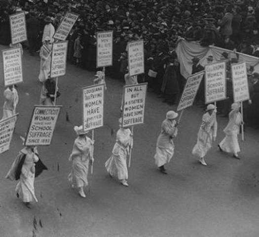Women March in NYC Protesting War