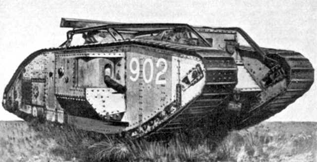 Tanks invneted and used in WW1