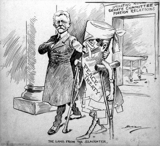 The senate denies the Treaty of Versailles