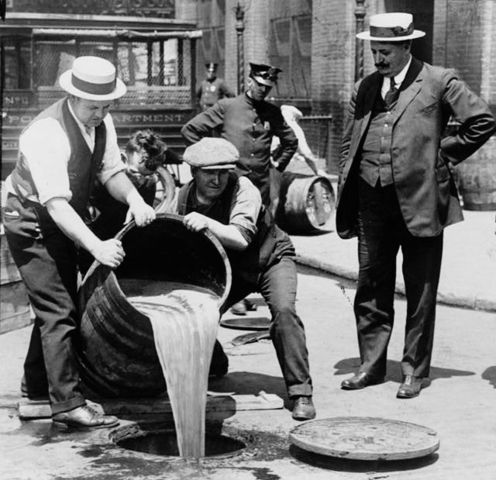 Two thirds of the states have banned the manufacturing and sale of alchohol.