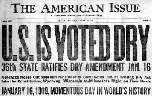 The 18th Amendment is Ratified