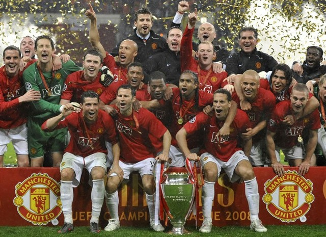 Manchester united win the champions league