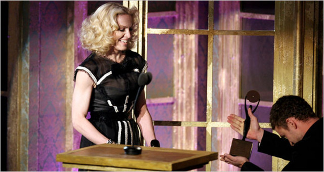 Madonna Wins her first grammy award