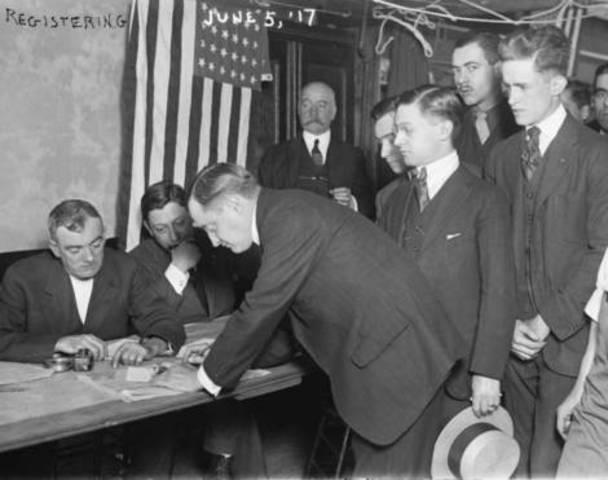 U.S. Congress approves conscription draft.