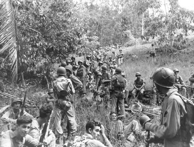 The United States Marines land on Guadalcanal