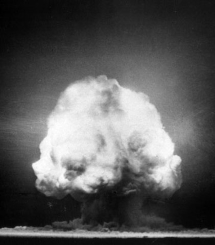 The first atomic bomb, the Trinity Test
