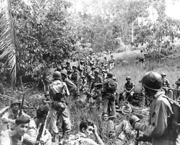 The United States Marines land on Guadalcanal in the Solomon Islands in the first American offensive of World War II