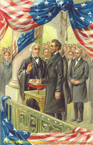 Abraham Lincoln inagurated
