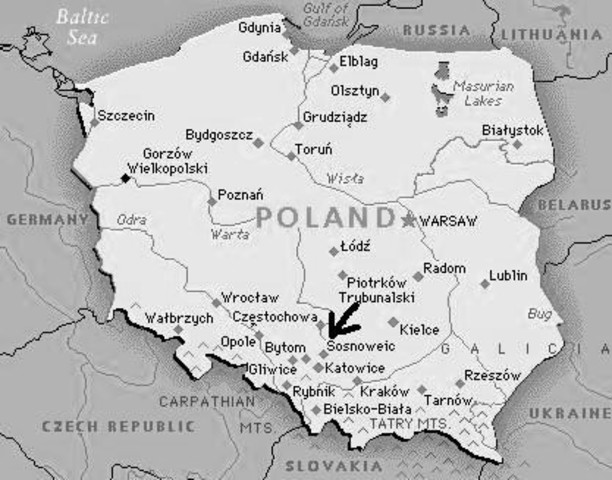 Escapes back to Sosnowiec to his family