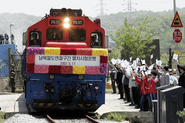Trains traverse the border