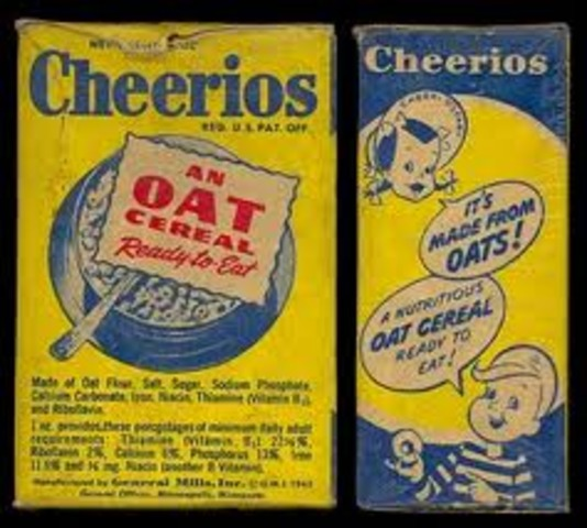 The General Mills Breakfast Ceral Cheerios is Introduce Originally as CheeriOats