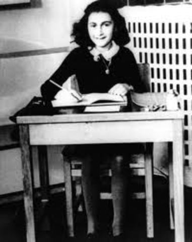 Anne Frank Writes Her First Entry in Her Diary