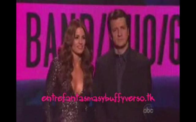 Nathan and Stana present at the American Music Awards