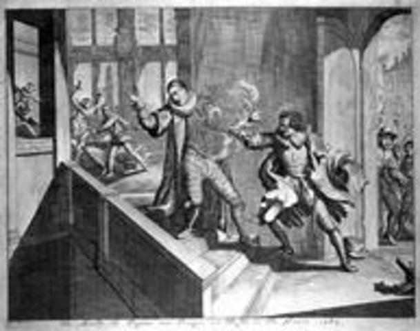 Willem van Oranje wordt vermoord