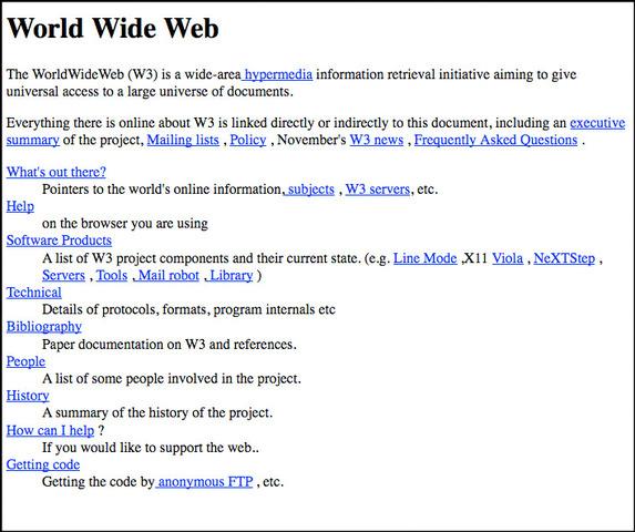 Public internet (Web 1.0)