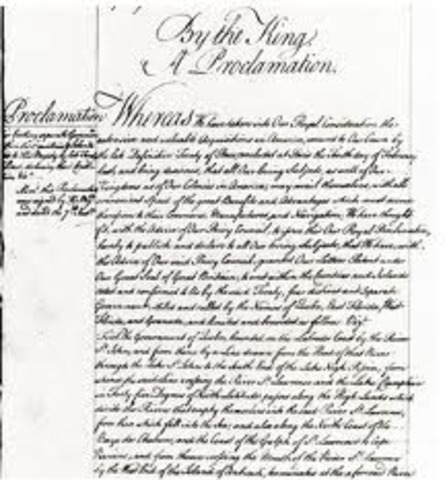 The Proclomation of 1763