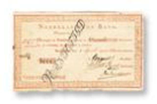 Eerste bankbiljetten voor Nederland: begin bankbiljettendruk