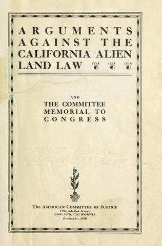 California Alien Land Law