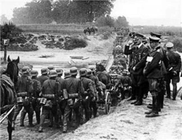Germany invades Czech.