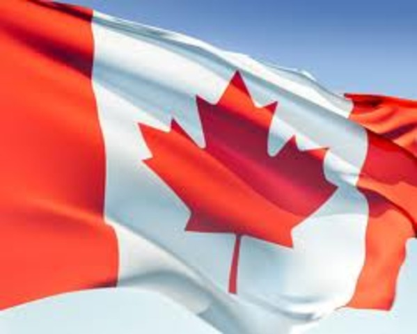 Canada was declared as an offical country.