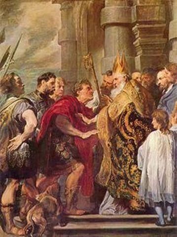 Romulus Augustulus is overthrown