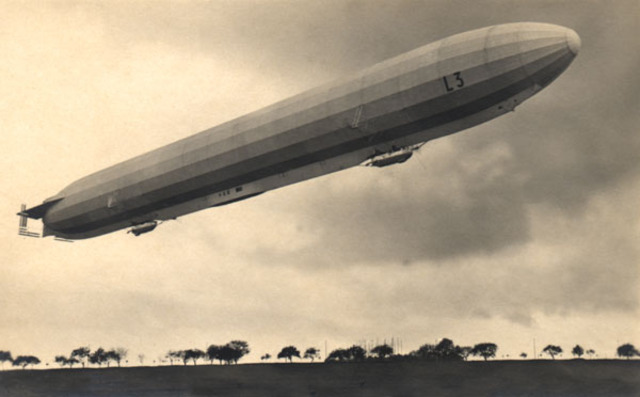First Zeppelin raid on Great Britain