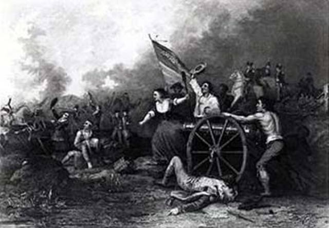 The battle of Monmoth Courthouse
