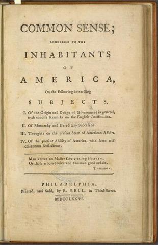 "Thomas Paine's ""Common Sense"" Published"