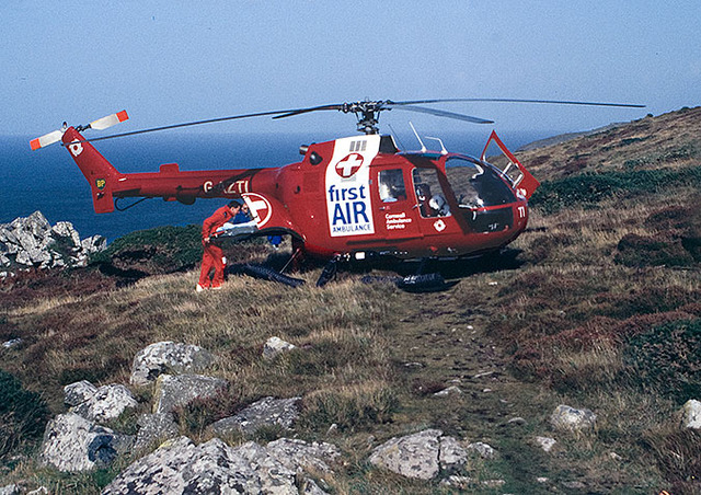 First UK Air Ambulance launches in Cornwall