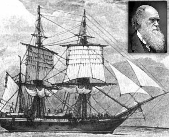 Darwin publicó la obra Diario del viaje del Beagle