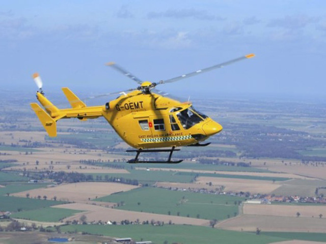 East Anglian Air Ambulance launch