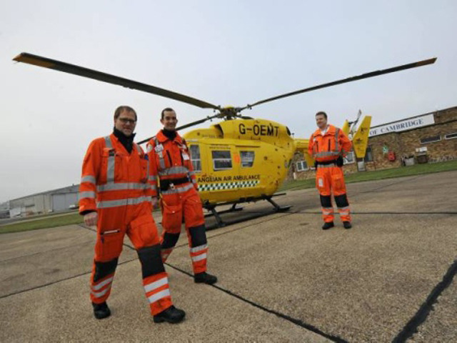 Doctors on board East Anglian Air Ambulance