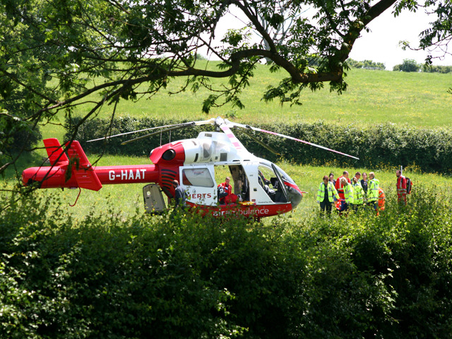 An air ambulance for Hertfordshire and doctors on board