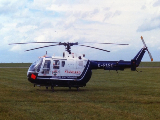 Lincolnshire Air Ambulance launch
