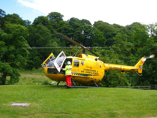 AA sponsors an air ambulance for Yorkshire