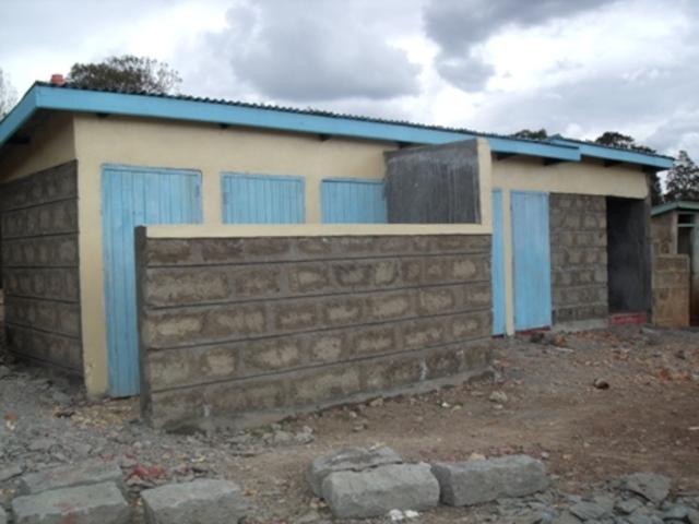 Kabathi latrines completed