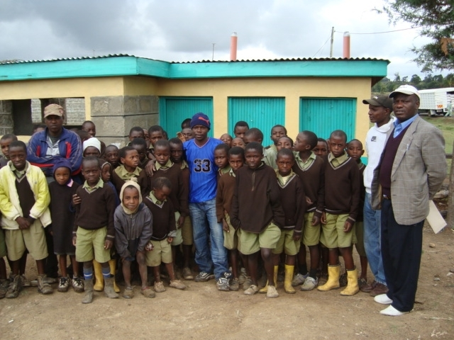 Jacaranda completed latrines