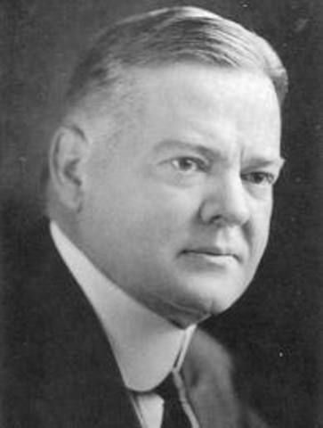 Herbert Hoover takes office