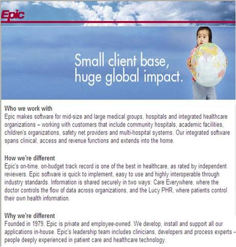 Epic selected as EHR Vendor