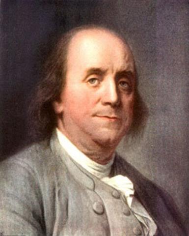 Benjamin Franklin invents lightning conductor.