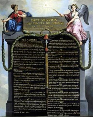 Signing the Declaration of the Rights of Man and Citizen