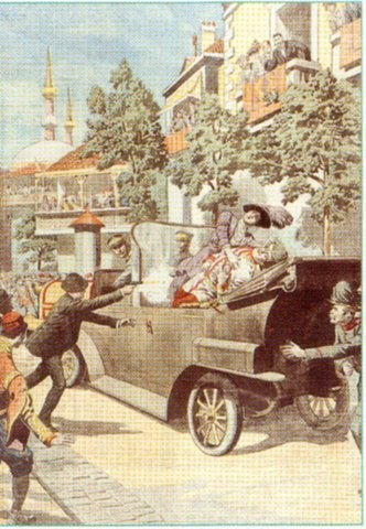 Assasination of Archduke Francis Ferdinand; Start of WWI