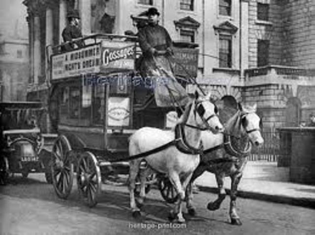 Horse Drawn Buses Begin