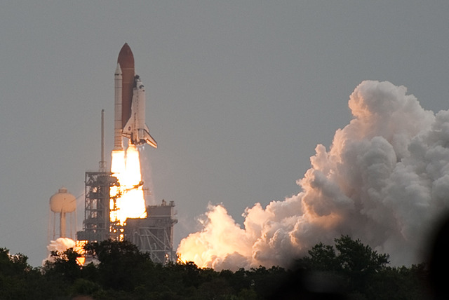 Last space shuttle mission with NASA