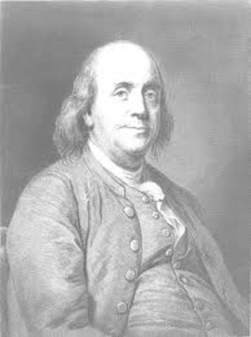 Ben franklin did his kite experiment.