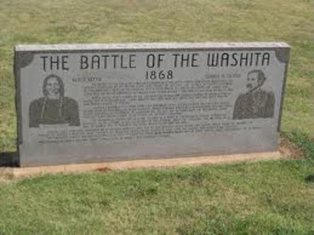 Chief Black Kettle's Death- Battle of Washita