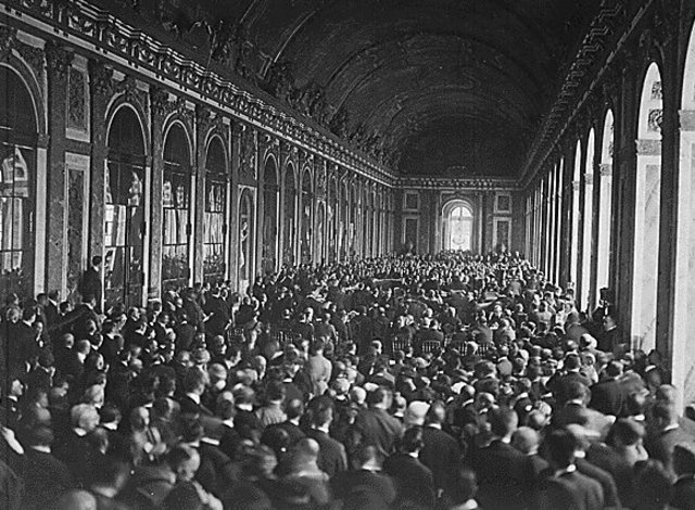 Signing the Treaty of Versailles